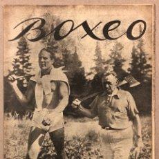 """Coleccionismo deportivo: REVISTA BOXEO N° 545 (1935). MAX BAER """"EL TARZAN HEBREO"""", LOGAN, SOLÁ, JAVIER TORRES, PARISI,. Lote 276498303"""