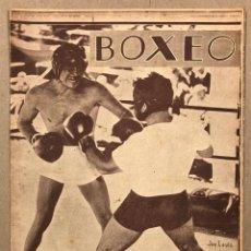 Coleccionismo deportivo: REVISTA BOXEO N° 546 (1935). TONI CANCELLO, JOE LEWIS, FENOY II, A. CORTÉS, LUIS LOGAN, MORITO ALÍ,.. Lote 276498828