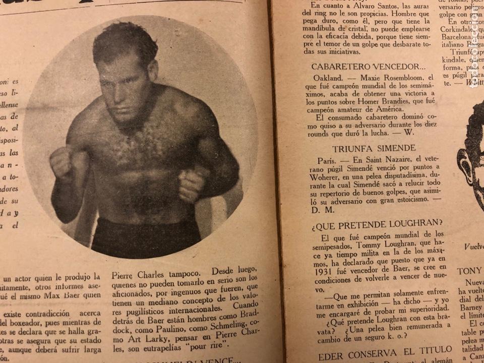 Coleccionismo deportivo: REVISTA BOXEO N° 528 (1935). PEDRITO RUIZ Vs ORTEGA, SANGCHILLI, ALF BROWN, ARA, MARCEL THIL, JOE LE - Foto 3 - 276499523