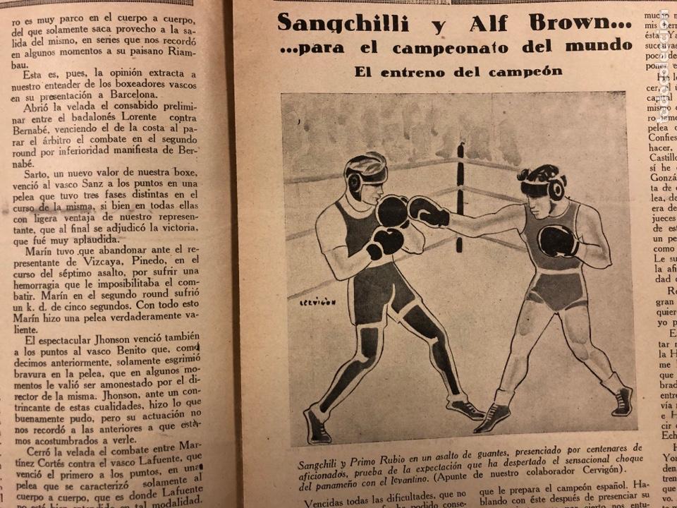 Coleccionismo deportivo: REVISTA BOXEO N° 528 (1935). PEDRITO RUIZ Vs ORTEGA, SANGCHILLI, ALF BROWN, ARA, MARCEL THIL, JOE LE - Foto 4 - 276499523