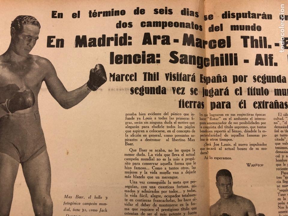 Coleccionismo deportivo: REVISTA BOXEO N° 528 (1935). PEDRITO RUIZ Vs ORTEGA, SANGCHILLI, ALF BROWN, ARA, MARCEL THIL, JOE LE - Foto 5 - 276499523