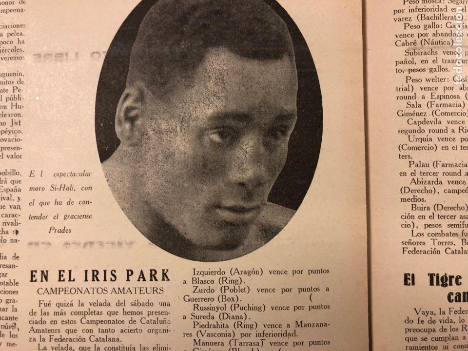 Coleccionismo deportivo: REVISTA BOXEO N° 528 (1935). PEDRITO RUIZ Vs ORTEGA, SANGCHILLI, ALF BROWN, ARA, MARCEL THIL, JOE LE - Foto 6 - 276499523