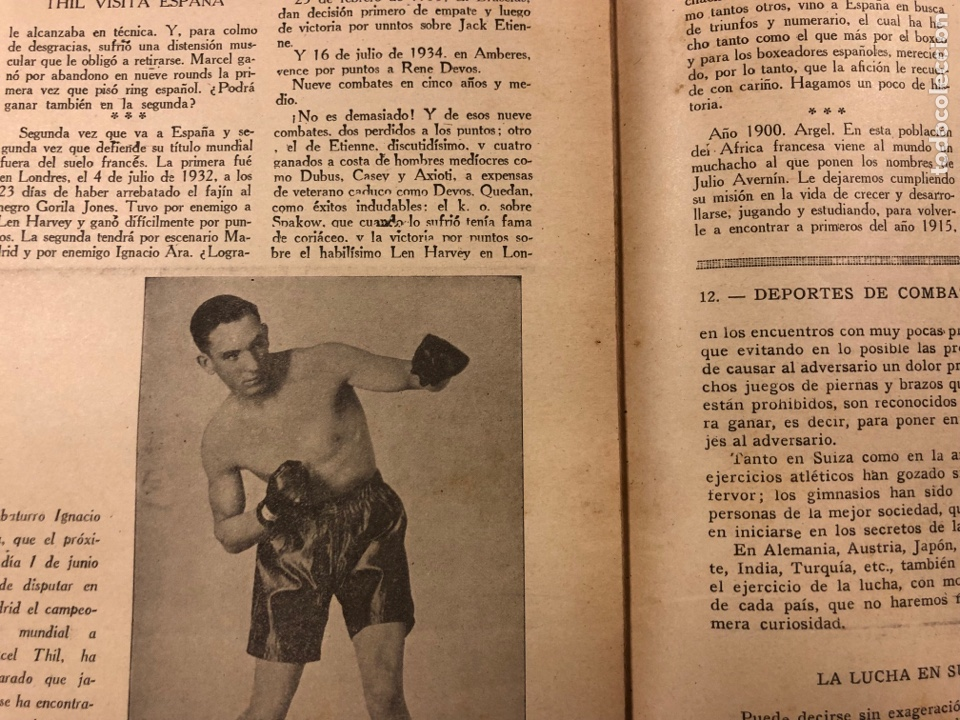 Coleccionismo deportivo: REVISTA BOXEO N° 528 (1935). PEDRITO RUIZ Vs ORTEGA, SANGCHILLI, ALF BROWN, ARA, MARCEL THIL, JOE LE - Foto 7 - 276499523