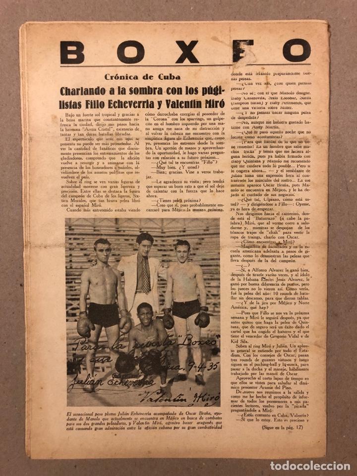 Coleccionismo deportivo: REVISTA BOXEO N° 528 (1935). PEDRITO RUIZ Vs ORTEGA, SANGCHILLI, ALF BROWN, ARA, MARCEL THIL, JOE LE - Foto 8 - 276499523