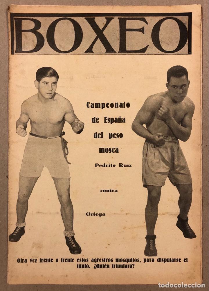 REVISTA BOXEO N° 528 (1935). PEDRITO RUIZ VS ORTEGA, SANGCHILLI, ALF BROWN, ARA, MARCEL THIL, JOE LE (Coleccionismo Deportivo - Revistas y Periódicos - otros Deportes)
