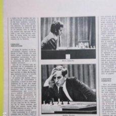 Coleccionismo deportivo: AÑO 1972 - AJEDREZ BORIS SPASSKY BOBBY FISCHER - 1 PAGINAS. Lote 276535918