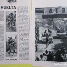 Coleccionismo deportivo: AÑO 1972 - CICLISMO EDDY MERCKS OCAÑA FUENTE GANA LA VUELTA EN EL FORMIGAL - 2 PAGINAS. Lote 276537698