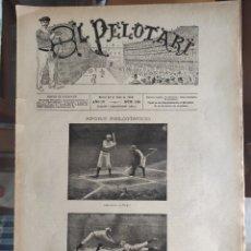 Coleccionismo deportivo: REVISTA SEMANAL EL PELOTARI. Nº 120. MADRID 23 DE ENERO 1896. 8 PÁGS.. Lote 276692018