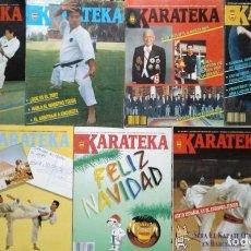 Coleccionismo deportivo: SIETE REVISTAS DE ARTES MARCIALES ''KARATEKA'' - NÚMEROS 17 A 23 (AÑOS 80). Lote 277204698