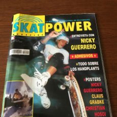 Coleccionismo deportivo: REVISTA SKATPOWER Nº1 SKATE REVISTA SK8 SKATEBOARDING AÑOS 90. Lote 277235368
