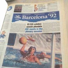 Coleccionismo deportivo: COLECCION ENCUADERNADA DEL DIARIO OFICIAL DE LOS JUEGOS OLIMPICOS DE BARCELONA'92. Lote 277467288