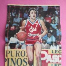 Coleccionismo deportivo: REVISTA NUEVO BASKET Nº 139 1985 POSTER JOSE LUIS LLORENTE CAI ZARAGOZA - EUROCOPAS - NBA 85/86. Lote 277500438
