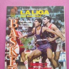 Colecionismo desportivo: REVISTA NUEVO BASKET Nº 148 1986 ESPECIAL FERNANDO MARTIN CAMPUS NBA - POSTER RUSSEL ESTUDIANTES. Lote 277687413