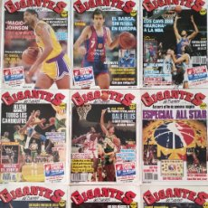 Coleccionismo deportivo: LOTE 9 REVISTAS GIGANTES DEL BASKET Nº 166-167-168-169-170-171-172-174-175 1989. Lote 277699598