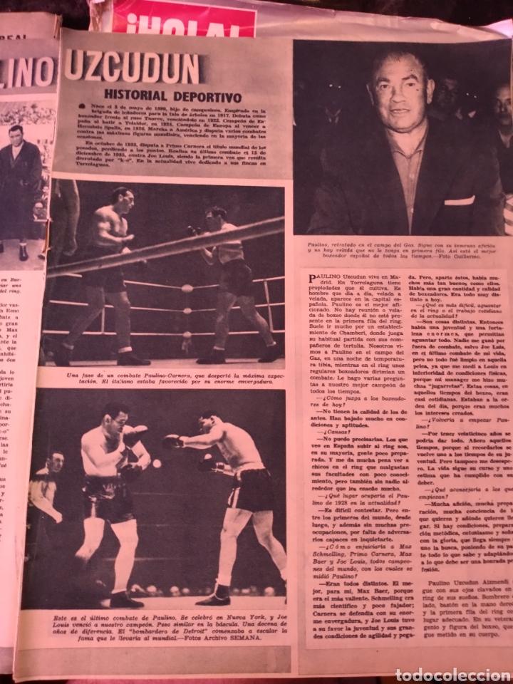 Coleccionismo deportivo: 2 hojas recortes de artículo sobre Paulino Uzcudun. Revista Semana 1169 de 1962 - Foto 2 - 279442708