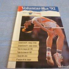 Coleccionismo deportivo: (BTA)REVISTA VOLUNTARIOS 92 Nº 12 CASTELLANO/ CATALÁN.DE JUEGOS OLIMPICOS BARCELONA 1992. Lote 280306473