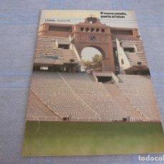 Coleccionismo deportivo: (BTA)BARCELONA 1989 INAUGURACION ESTADIO OLÍMPICO CON VISTAS A LAS OLIMPIADAS BARCELONA-92. Lote 280370198