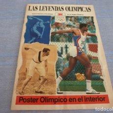 Coleccionismo deportivo: (BTA) 1989 REVISTA LAS LEYENDAS OLIMPICAS CON POSTER OLIMPICO EN PAGINAS CENTRALES. Lote 280370298