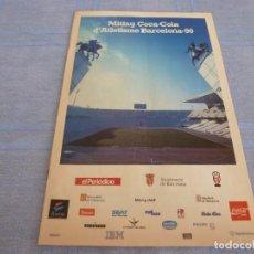 Coleccionismo deportivo: (BTA) MITING COCA-COLA DE ATLETISMO BARCELONA-90 (EN CASTELLANO Y CATALÁN). Lote 280371018