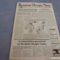 Coleccionismo deportivo: (BTA) BARCELONA OLIMPIC NEWS(ABRIL 1989)EN INGLÉS INFORMACION PROXIMOS JUEGOS OLIMPICOS BARCELONA-92. Lote 280371148