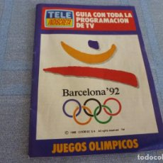 Coleccionismo deportivo: (BTA) GUIA CON TODA PROGRAMACIÓN DE LOS JUEGOS OLIMPICOS BARCELONA-92. Lote 280382708