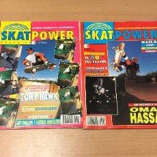 Coleccionismo deportivo: LOTE 4 REVISTAS SKATPOWER Nº 1 - 7 - 8 - 14 AÑOS 90. Lote 280770198