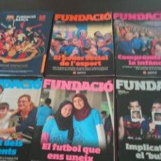 Coleccionismo deportivo: REVISTA FUNDACIO BARÇA. EDICION ESPECIAL + LOS 15 PRIMEROS NUMEROS DE LA REVISTA (2016-2019). Lote 283130508