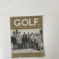 Coleccionismo deportivo: GOLF - REVISTA DE LA FEDERACIÓN ESPAÑOLA DE GOLF Nº 8 - MAYO-JUNIO 1955. Lote 283756338
