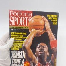 Collezionismo sportivo: REVISTA FORTUNA SPORTS Nº 16 JULIO 1990 MICHAEL JORDAN PEGATINAS DE COCACOLA BARCELONA 92 SEVILLA. Lote 285685943