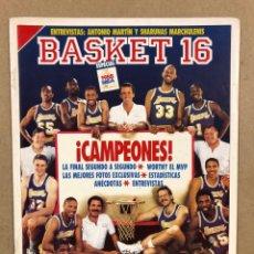 Colecionismo desportivo: BASKET 16 N° 39 (1988). ESPECIAL FINALES NBA, LAKERS CAMPEONES, SELECCIÓN ESPAÑOLA VS USA EN BILBAO,. Lote 285730373