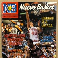 Coleccionismo deportivo: NUEVO BASKET N° 197 (1990). DETROIT PISTONS CAMPEÓN NBA VS PORTLAND, BALANCE NBA ACB, MUNDIAL ARGENT. Lote 285743388