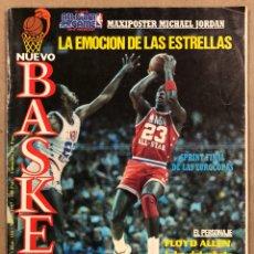 Coleccionismo deportivo: NUEVO BASKET N° 154 (1987). MICHAEL JORDAN ALL STAR SEATTLE '87, MAGIC JOHNSON, FERNANDO MARTÍN. Lote 285746518