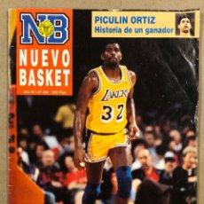 Colecionismo desportivo: NUEVO BASKET N° 202 (1991). REPORTAJE LARRY BIRD, RECORDS NBA, PICULIN ORTIZ, CORBALAN, MIKE SMITH. Lote 285749593