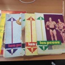 Coleccionismo deportivo: LOTE REVISTAS LAS PESAS, AÑO 1969, TODAS LAS DEL AÑO, AÑO COMPLETO, ARNOLD SCHWARZENEGGER EN PORTADA. Lote 285813338