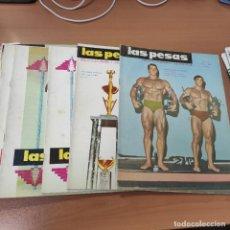Coleccionismo deportivo: LOTE REVISTAS LAS PESAS, AÑO 1969, TODAS LAS DEL AÑO, AÑO COMPLETO, ARNOLD SCHWARZENEGGER EN PORTADA. Lote 285813618