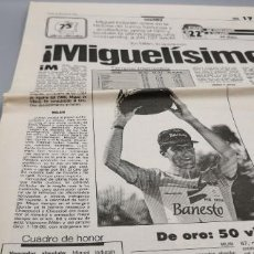Coleccionismo deportivo: 8 PAGINAS MARCA 15 JUNIO DE 1992. MIGUEL INDURAIN REY GIRO DE ITALIA 92. Lote 286651313