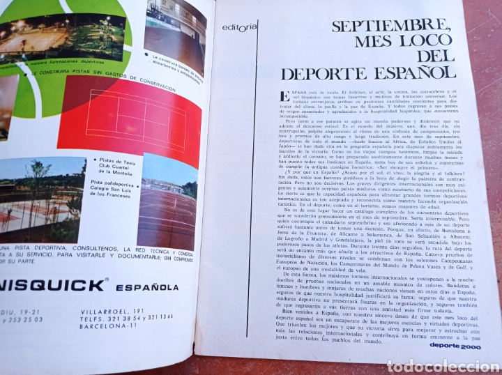 Coleccionismo deportivo: DEPORTE 2000 Nº 20 , 1970 , XII CAMPEONATOS EUROPA NATACION, MUNDIALES GOLF Y PELOTA,. - Foto 2 - 287984903
