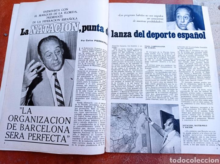 Coleccionismo deportivo: DEPORTE 2000 Nº 20 , 1970 , XII CAMPEONATOS EUROPA NATACION, MUNDIALES GOLF Y PELOTA,. - Foto 3 - 287984903