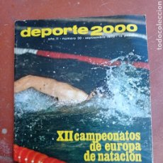 Coleccionismo deportivo: DEPORTE 2000 Nº 20 , 1970 , XII CAMPEONATOS EUROPA NATACION, MUNDIALES GOLF Y PELOTA,.. Lote 287984903