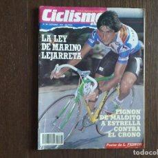 Coleccionismo deportivo: REVISTA CICLISMO A FONDO Nº 48, OCTUBRE 1989, LA LEY DE MARINO LEJARRET, POSTER DE LAURENT FIGNON.. Lote 288217178