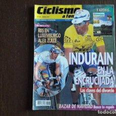 Coleccionismo deportivo: REVISTA CICLISMO A FONDO Nº 146, ENERO 1997, INDURAIN EN LA ENCRUCIJADA.. Lote 288217553