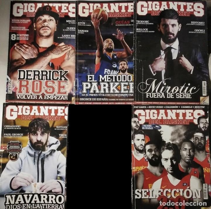 Coleccionismo deportivo: Lote de 11 revistas Gigantes del Basket (2013-2015) - NBA - Foto 2 - 232082205