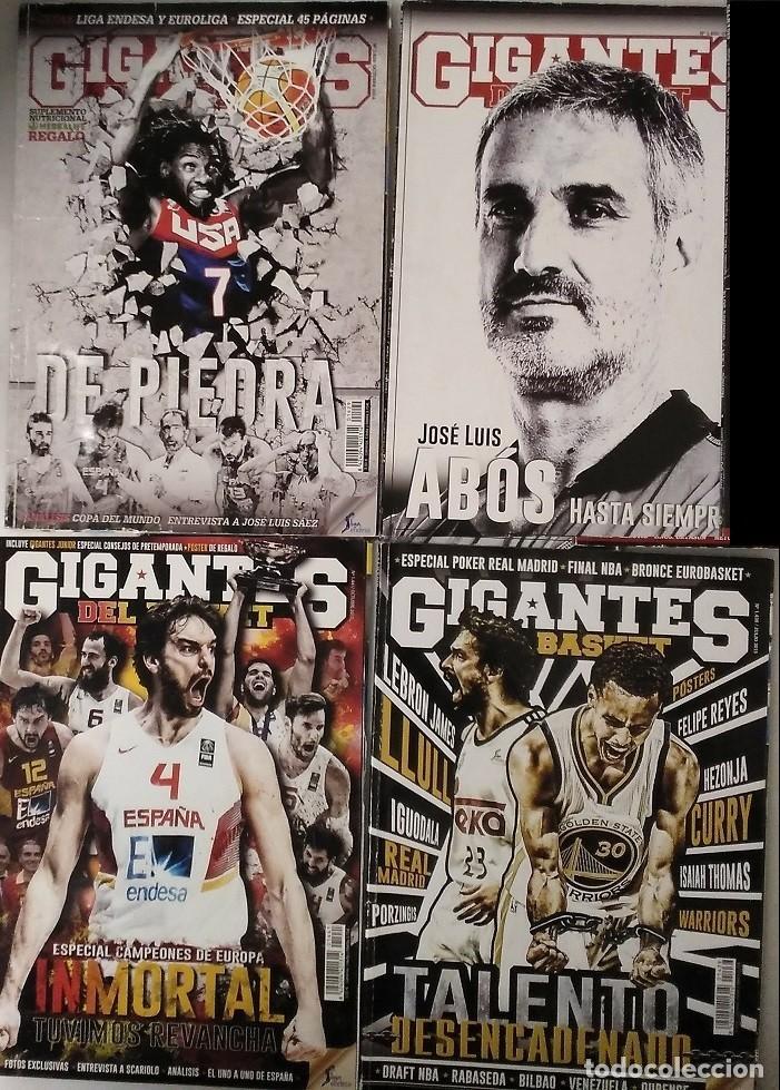 Coleccionismo deportivo: Lote de 11 revistas Gigantes del Basket (2013-2015) - NBA - Foto 3 - 232082205