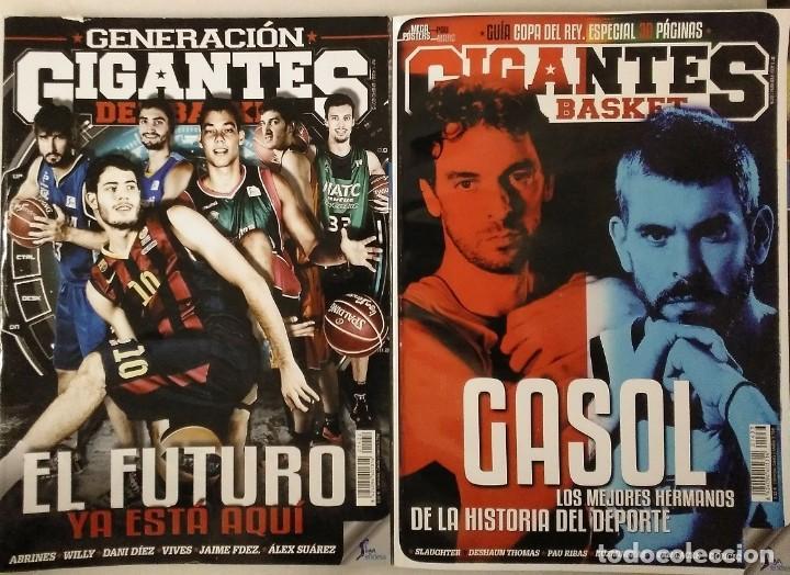 Coleccionismo deportivo: Lote de 11 revistas Gigantes del Basket (2013-2015) - NBA - Foto 4 - 232082205