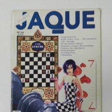 Coleccionismo deportivo: REVISTA JAQUE PRACTICA AJEDREZ Nº 24. BRONSTEIN. JAQUETAZOS. TDKC118. Lote 288705603