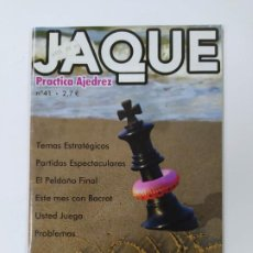Coleccionismo deportivo: REVISTA JAQUE AJEDREZ Nº 41. BACROT. PRACTICA AJEDREZ. TDKC118. Lote 288708898