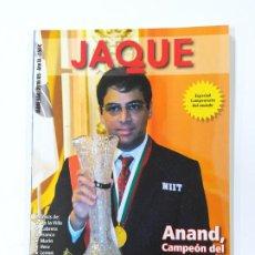 Colecionismo desportivo: REVISTA JAQUE AJEDREZ Nº 644. MAYO 2010. ANAND CAMPEON DEL MUNDO. TDKC118. Lote 288951363
