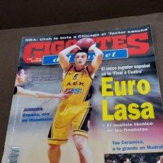 Coleccionismo deportivo: REVISTA...GIGANTES DEL BASKET....NUMERO 651...1998...EURO LASA...POSTER DE RODRIGO DE LA FUENTE...... Lote 289490583