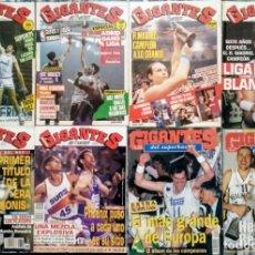 Coleccionismo deportivo: REAL MADRID - 10 REVISTAS ''GIGANTES DEL BASKET'' (1985-2014) - COPAS DEL REY, EUROLIGAS Y LIGAS ACB. Lote 50803159