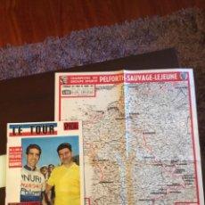 Coleccionismo deportivo: REVISTA TOUR DE FRANCIA 1965 ESPECIAL INCLUYE EL DIFÍCIL MAPA. Lote 292287883